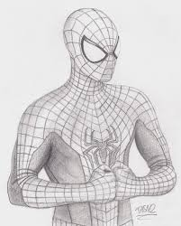 spiderman sketch drawing quick spider man sketch drawingsketch edd