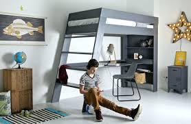 chambre avec lit superposé chambre garcon lit superpose mezzanine adolescent ado garcon