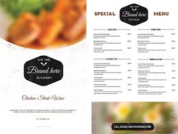 free restaurant menu template word free first birthday invitation