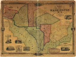 map of washington 1851 map of the city of washington d c ghosts of dc