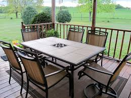 tile top patio table and chairs tile patio table top replacement randallhoven com