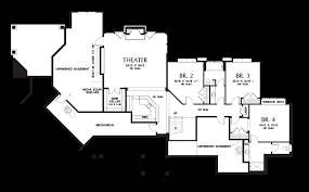 Floor Plans With Basement by Mascord House Plan 1411 The Tasseler