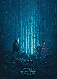 lightsaber duel imax poster for star wars the force awakens