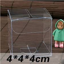 candy apple supplies wholesale wholesale newest 4 4 4cm clear pvc box packing wedding christmas