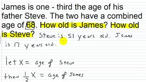 Love Isnt Easy Quotes by Algebra Ii Lesson Ii 4 Age Word Problems I Youtube