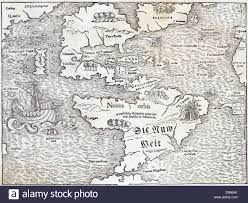 New World Map by Map Of The New World By Sebastian Munster 1540 Showing The Name