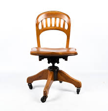 Midcentury Desk Chair Mid Century Rolling Oak Desk Chair Made By Milwaukee Chair Co Ebth