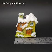 micro cottage snow mini resin house craft micro cottage model toy kid christmas