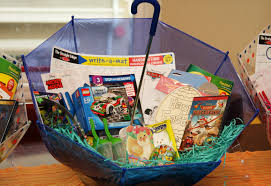 easter basket boy make your own umbrella easter baskets non candy centered allergy