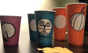 Halloween Cups Photos Of Starbucks U0027 Fall Cups Will Put You Into The Halloween Spirit