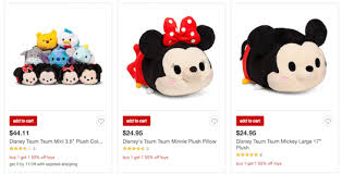 target black friday pillow many tsum tsum items u0027buy one get one 1 2 off u0027 during target u0027s