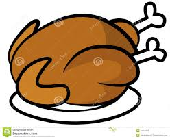 chicken or turkey on plate royalty free stock photos image 29855848
