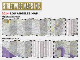Los Angeles Freeway Map by Streetwise Los Angeles Map Laminated City Center Street Map Of
