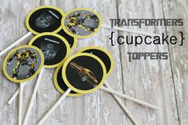 bumblebee transformer cake topper transformers toppers free transformers cupcake toppers just print and punch