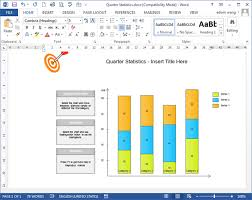 column chart templates for word