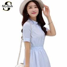 dress women summer dress 2017 fashion korean female short sleeve