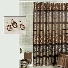 safari stripes animal print shower curtain