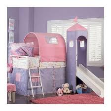 Bunk Bed With Slide And Tent Loft Bed With Slide Ebay