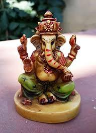 collectible india small god ganesha car dashboard decor statue