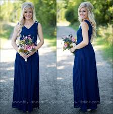 navy blue bridesmaid dresses 2017 cheap country navy blue bridesmaid dresses v neck lace