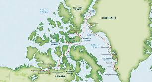 Baffin Bay On World Map by Itinerary Northwest Passage September 2015 Zegrahm Expeditions