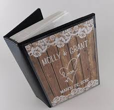 personalized album wedding photo album ia 375 printed not real wood and