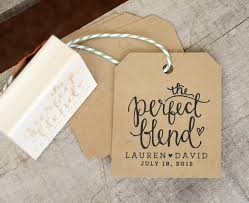 tea bag wedding favors the blend rubber st personalized st coffee