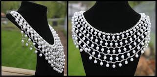 silver necklace with pearls images Silver and pearl necklace by thy darkest hour jpg