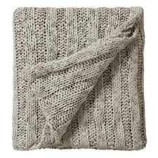 bedeck drift stone knitted bed throw 130cm x 150cm bedeck from