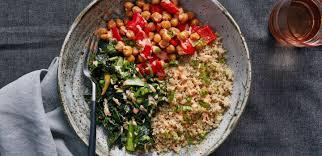 sriracha mayo nutrition coconut quinoa bowl with bok choy crispy chickpeas and sriracha