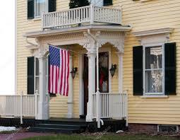 Porch Flag House Entrance With American Flag U2014 Stock Photo Npetrov 2191102