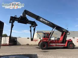auction of kalmar dc4560rc4 reach stacker