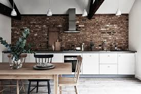 classic and trendy 45 gray and white kitchen ideas kitchens brick wall backsplash for kitchen in white with gray