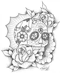 online coloring page awesome sugar skull coloring picture online abstract coloring
