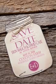 jar wedding invitations erin david s rustic pink burlap wedding invitations