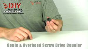 Overhead Garage Door Opener Parts by Replacement Genie U0026 Overhead Garage Door Screw Drive Coupler Youtube