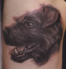 funny dog mouth tattoo design photos pictures and sketches