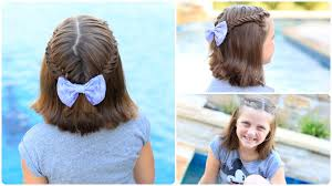 Hairstyles For Short Hair Cute Girl Hairstyles | how to create a lace fishtail tieback cute girls hairstyles