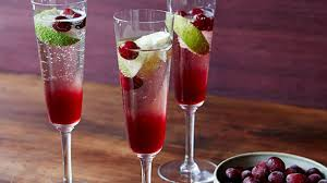 tropical drink emoji cranberry champagne cocktail recipe tyler florence food network