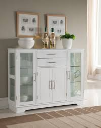 kitchen storage cabinets with glass doors kings brand kitchen storage cabinet buffet with glass doors white