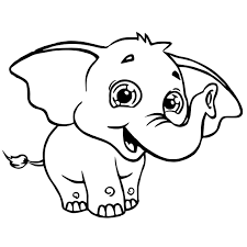 sweety elephant coloring page wecoloringpage