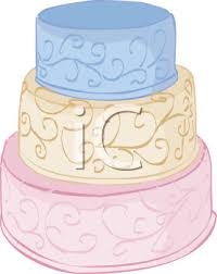 tiered wedding cake royalty free clip picture