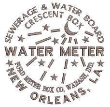 water meter new orleans new orleans water meter machine embroidery design