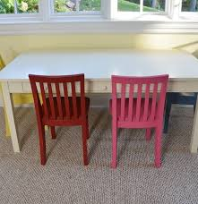 pottery barn kids white craft table and four