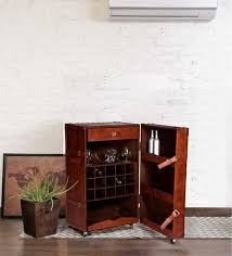 Retro Bar Cabinet Buy Vintage Bar Cabinet In Brown Leather By Studio Ochre