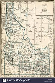map of idaho map of idaho state 1930 s stock photo royalty free image