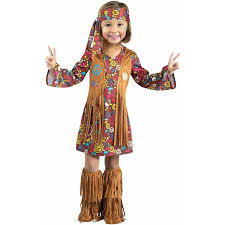 halloween custumes for girls peace and love hippie toddler halloween costume walmart com
