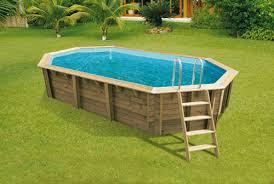 piscine hors sol bois bahia 6 70 x 4 00 m h 1 30 m