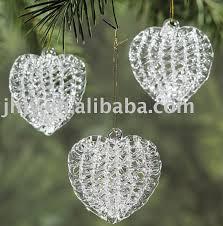 spun glass ornaments spun clear glass ornaments