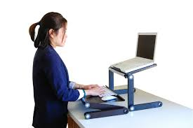 Ergonomic Laptop Desk Portable Workstation Adjustable Vented Portable Laptop And Tablet Desk Getdatgadget